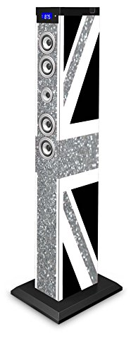 BigBen Sound Tower TW9 | Union Jack Glitter | 60 Watt RMS | Bluetooth, Aux-IN, SD, UKW