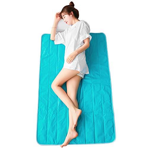 mianshe ひんやりマット 敷きパッド 両面使える 瞬間冷却 冷感マット 柔らかい ジェルマット 完全防水加工 抗菌・防臭 (シングル・90×140cm)