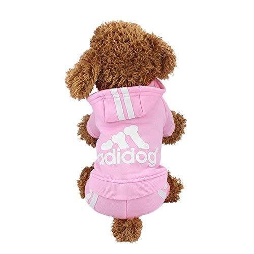 DEMO-EU Adidog Haustier Hundebekleidung Warmer Hundepullover mit Kapuze für Herbst und Winter Jacke Pullover, geeignet für Outdoor-Sportbekleidung für kleine, mittlere und große Hunde.