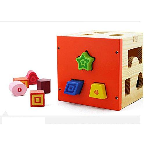 Jouets FEI Forme Colorful Forme Cognition Box Couleur pour Enfants cognitifs éducatifs en Bois Early Learning Toys Début Éducation