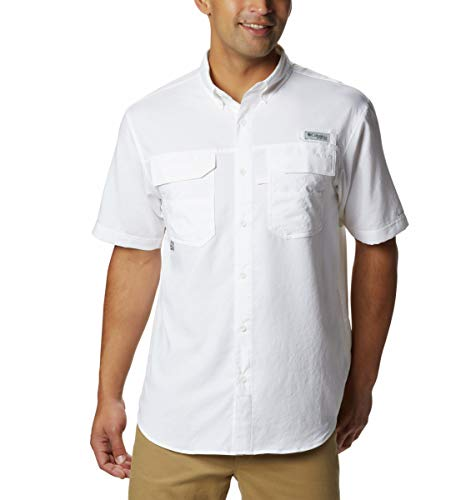 Columbia Blood and Guts III Short Sleeve Woven Shirt, White, XX-Large