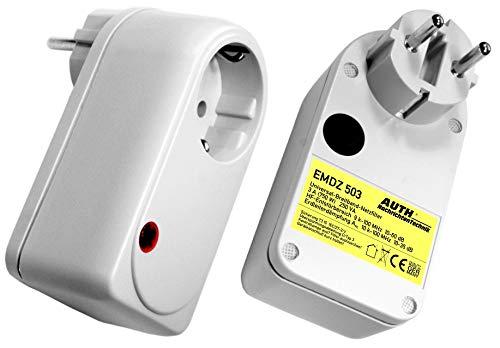 AUTH Netzfilter Universal-Breitband, Zwischenstecker (3 A, 9 kHz - 100 MHz mit Überspannungsschutz)