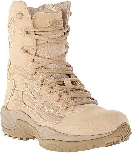 Reebok Men's Stealth 8 Lace-Up Side-Zip Work Boot Desert Khaki 14 EE US