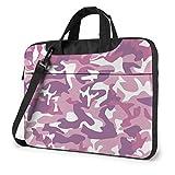 Laptop Messenger Bolsa para Laptop Camo Military Hipster Pink Shoulder Bag Maletín de Oficina Funda para portátil Estuche para Tableta para Hombres y Mujeres