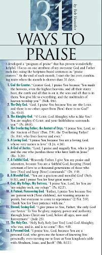 31 Ways to Praise 50-pack (Prayer Cards)