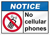 アルミニウム金属ノベルティ危険標識、携帯電話なし通知標識、面白い警告標識屋内および屋外に簡単に取り付けられる家庭用金属安全標識