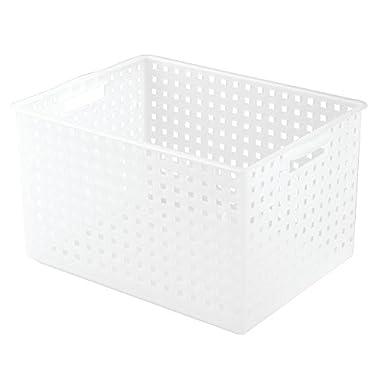 InterDesign Modulon X8 Storage Basket, Frost