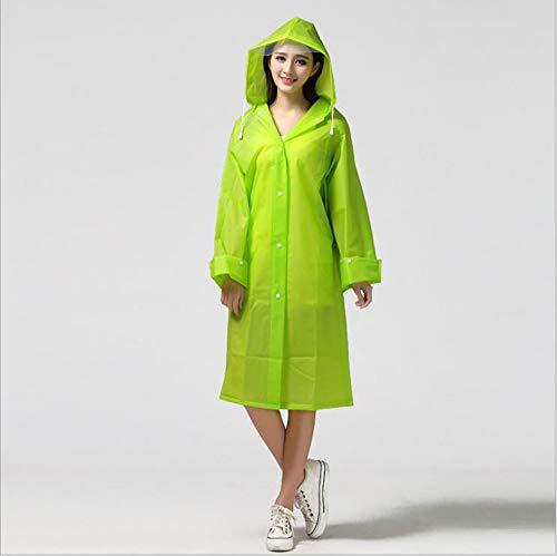 Lange Regenjas 2-delige Rain Poncho voor vrouwen en mannen Herbruikbare Transparent Raincoat voor camping wandelen Travel Picnic Bivouac Walking Backpacken
