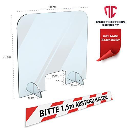 Plexiglas plaat toonbank bescherming 80x70cm, Plexiglas scherm, anti virus bescherming
