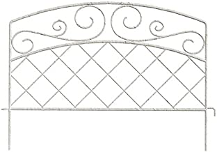 Panacea French Country Scroll Border Fence, 16 x 18