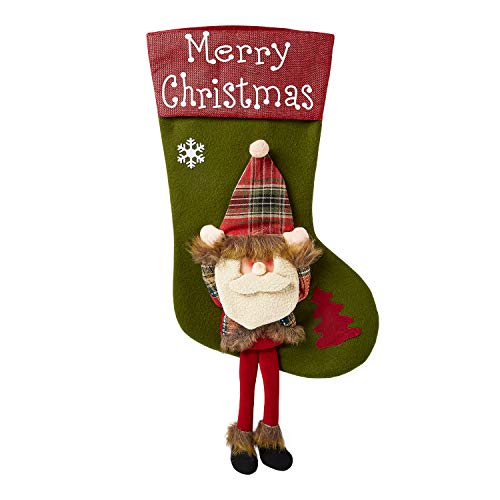 Ultra Grande Peluche 3D Carino Calze di Babbo Natale Addobbi Natalizi Calze Befana Vuote Calza Calze Befana Appendi Calze Natalizie da Appendere Sacchetti Regalo Calzini Natalizi Accessori Camino