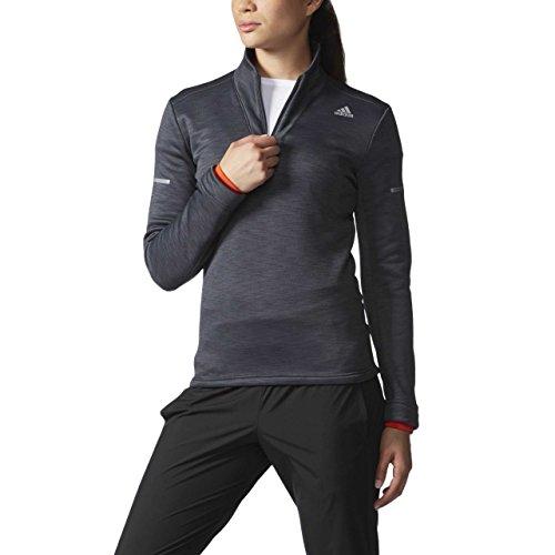 adidas Clmht 1/2zip W–Damen T-Shirt S schwarz/weiß