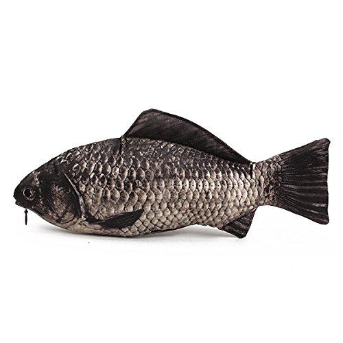 Cosanter Silber Karpfen Fisch Muster Feder Beutel Bleistift Kasten Halloween Geschenk Make-up Bag Aufbewahrungstasche Geldbeutel für Kinder