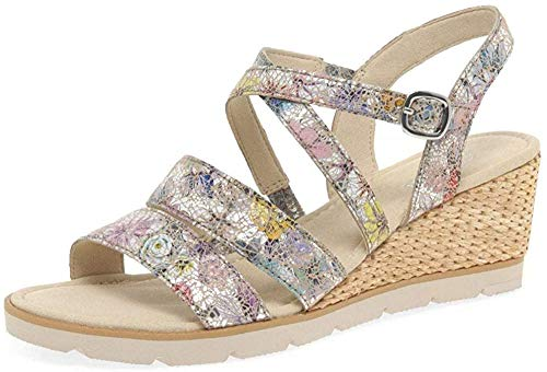 Gabor Protect Womens Wedge Heel Sandals Puder Flower 36
