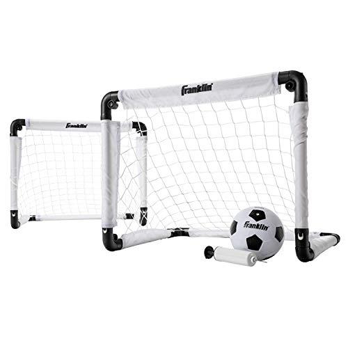 Franklin Sports Kids Mini Soccer Goal Set - Backyard/Indoor Mini Net and Ball with Pump - 22' x 17'