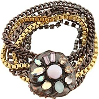 Juicy Couture Mixed Metal Flower Bracelet Multi Strand New! NWT