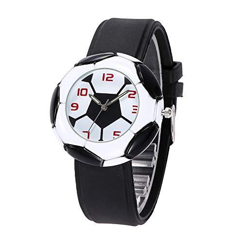 WZLDP Fußball-Liebhaber Mode Gedenkuhr (Color : Black)