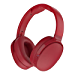 Skullcandy Hesh 3 Bluetooth Wireless Over-Ear Headphones with Microphone, Rapid Charge 22-Hour Battery, Foldable, Memory Foam Ear Cushions for Comfortable All-Day Fit, Red (Renewed)