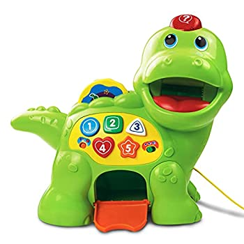 VTech Baby Feed Me Dino   Musical Baby Toy with Numbers Counting Music & Shapes   Interactive Light Up Toy Suitable from 1 2 3 Year Olds Boys & Girls