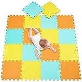 meiqicool Tappeto Puzzle Bambini Gomma Eva Resistente Isolante Lavabile Gioco per Bambini ...