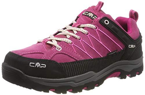 CMP Kids Rigel Low Shoes Wp Trekking- & Wanderhalbschuhe, Pink (Geranio-Off White 10hc), 34 EU