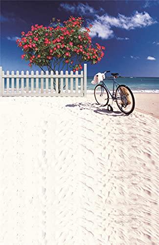 ZDXFG 5000 Piezas Rompecabezas de Piso de Impresión de Alta Definición para Adultos Educativo El Alivio del Estrés Juguete Relajante Juego Divertido -Bicicleta de Playa