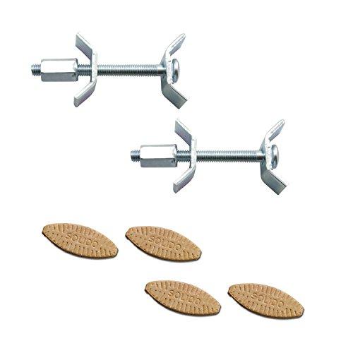 SECOTEC Arbeitsplattenverbinder-Set | Länge: 65 mm | mit Verbindungsplättchen