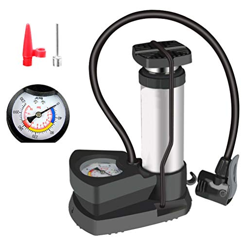 YUYAXPB Voetpomp met drukmeter, Draagbare Fietsband Pomp Auto Motorfiets Bal Hoge Druk Pomp