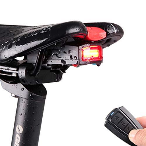 Bicicleta Luces traseras Carga USB inalámbrica Control Remoto Inteligente Alarma contra robos 120 decibelios Distancia de Control Remoto 1-100 Metros (área Abierta)