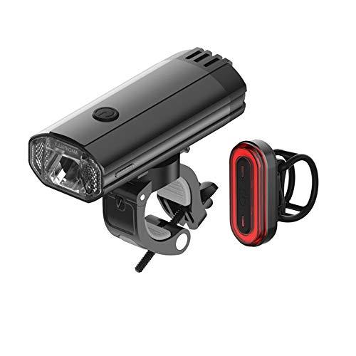 KIUY Juego de Luces LED para Bicicleta Recargables por USB - Luz Delantera y luz Trasera Incluidas Luces de Ciclo de 3 Modos para Todas Las Bicicletas