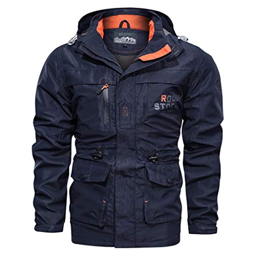 Herren Jacke, Dasongff Herren Rainforest Winter Jacke Outdoorjacke Wasserdicht Winddicht Warmer Skijacke Atmungsaktiv Regenjacke Funktionsjacke Allwetterjacke Doppeljacke Freizeitjacke