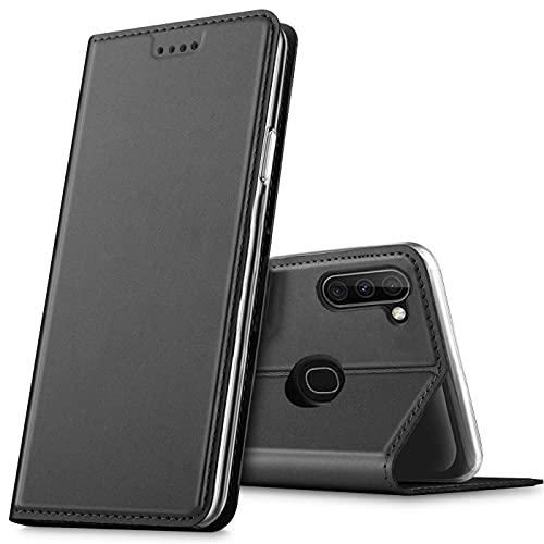 Verco Handyhülle für Samsung Galaxy M11, Samsung A11 Premium Handy Flip Cover für Samsung M11 Hülle [integr. Magnet] Book Hülle PU Leder Tasche, Schwarz