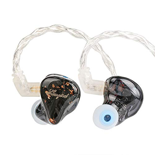Linsoul Mangird Tea 6BA+1DD Hybrid Driver HiFi in-Ear Earphones with 2pin 0.78 Detachable Cable IEMs for Audiophiles Musician (4.4mm)