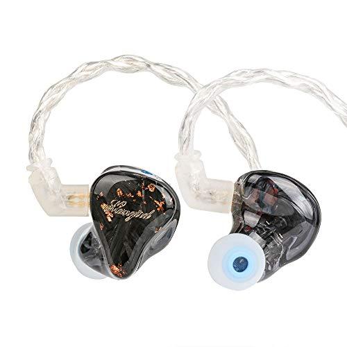 Linsoul Mangird Tea 6BA+1DD Hybrid Driver HiFi in-Ear Earphones with 2pin 0.78...