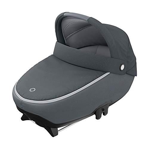Maxi-Cosi Jade Babywanne, sichere Babywanne mit ISOFIX Installation im Auto, komfortabler Kinderwagenaufsatz, geeignet ab Geburt bis ca. 6 Monate (max. 9 kg oder 40 bis 70 cm), Essential Graphite