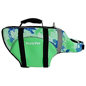 PlayaPup Dog Life Jacket, Medium, Emerald (Turtle)