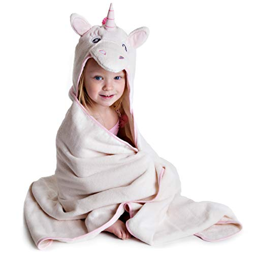 Toalla Con Capucha Para Niños - Unicornio Por Little