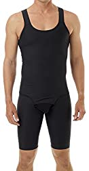 mens compression bodysuit black