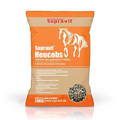 Supravit Heucobs 20 kg Pferdefutter - Leckeres Heu gepresst in Pellets