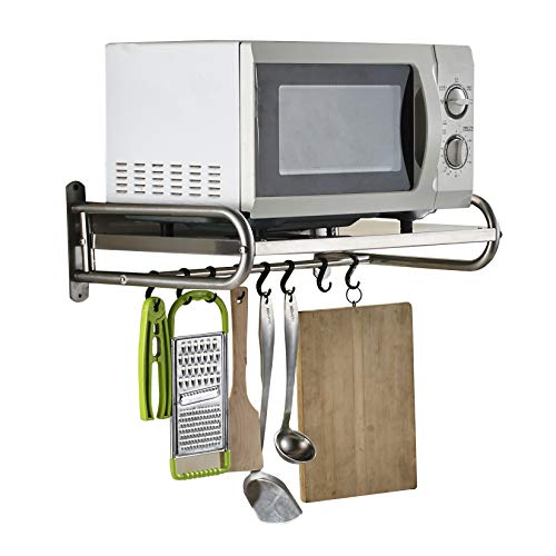304 Edelstahl Mikrowellenherd Regal, Wand Einfassungs Küchen Regal, mikrowelle regal - L53cm