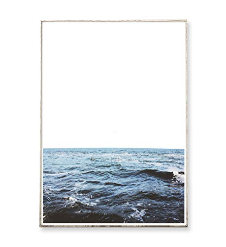 DIN A4 Kunstdruck Poster THE SEA -ungerahmt- Ozean, Wellen, Meer, minimalistisch