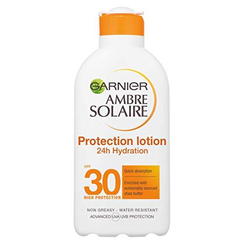 Garnier, Ambre Solaire UltraFeuchtigkeitsschutz SPF30 High Lotion, elfenbeinfarben, 200 milliliter