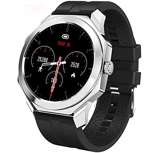 GGGJ Reloj Inteligente Reloj Inteligente con Pantalla táctil de 1.3 n Seguimiento de Salud Notificación de Mensaje Recordatorio sedentario IP68 Reloj Deportivo Impermeable