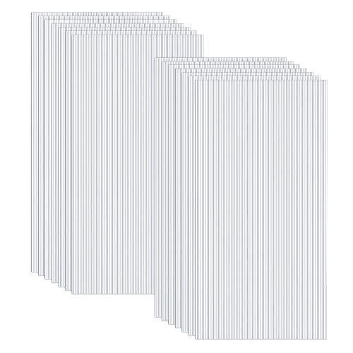 LZQ 14 Pcs Polycarbonat Hohlkammerplatten Hohlkammerstegplatten Doppelstegplatten transparente Polykarbonat Platten 4 mm stark 60,5 x 121 cm Ersatzteile für Garten Treibhaus Ersatzplatten 10,25 m²