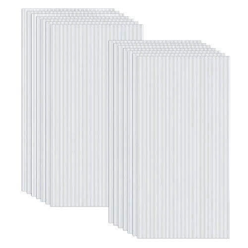 Ouhigher - 14 placas huecas de doble puente de policarbonato transparente, 4 mm de grosor, 60,5 x 121 cm, piezas de repuesto para invernadero de jardín, placas de repuesto de 10,25 m2, transparente