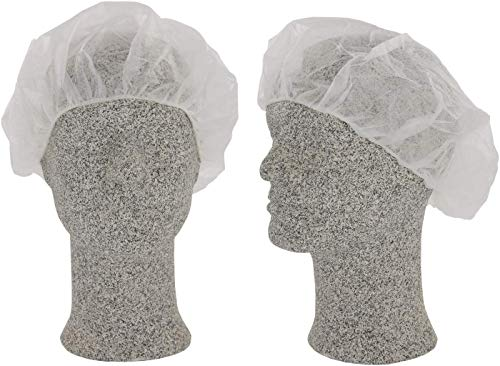 Comfort Baretthaube - OP Hauben - Einweg Kopfschutz Einweg-Damenhaube -Weiß Haarschutz, Haarnetz für einmal Benutzung, Op Haube - 5 x 100 Stück