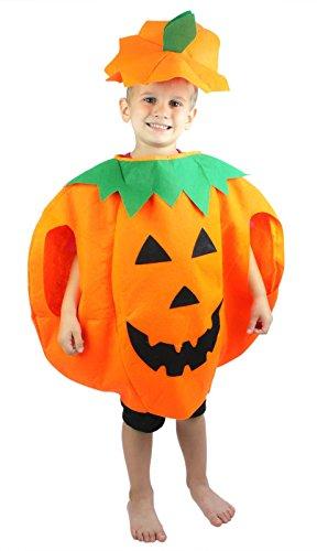 Petitebella Pumpkin Children Costume 3-7y (Orange)