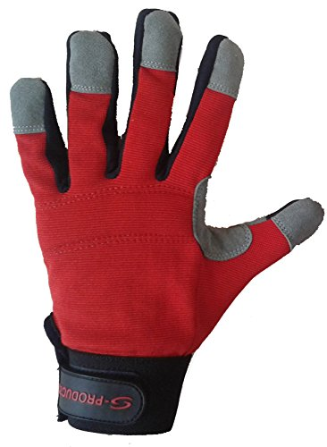 Mécanique de travail à la main de sécurité Protection DIY Entrepôt Store Man Rouge Gants de travail de livraison gratuite au Royaume-Uni M rouge