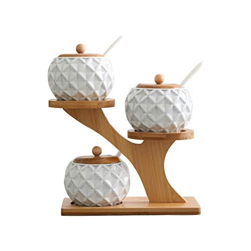 JGIT Envases de cerámica, envases de Cocina, Cajas de Especias, latas de Sal.