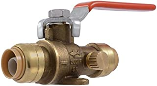 SharkBite 1/2-in Push-to-Connect x 1/2-in Push-to-Connect Ball Valve Push Fitting
